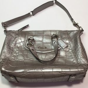 Coach Ashley crocodile Satchel